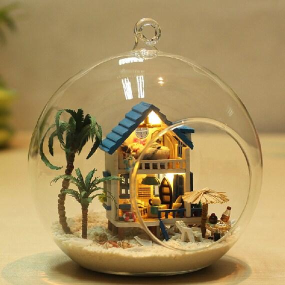 Diy Christmas Light Controller Kit: DIY Glass Ball House Glass House Miniature Dollhouse Kit