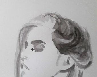 Portrait of woman n & b