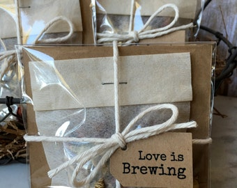 8 ~ Bridal Shower Bath Tea favors, Lavender Rose Bath Tea, Bath Tea Shower favors, Love is Brewing Favors,