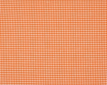 Orange 2mm 100% cotton gingham fabric