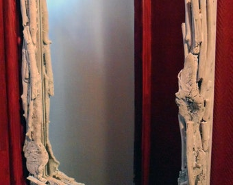 Mirror wood float, wood mirror unhidden