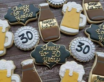 21st birthday beer cookies