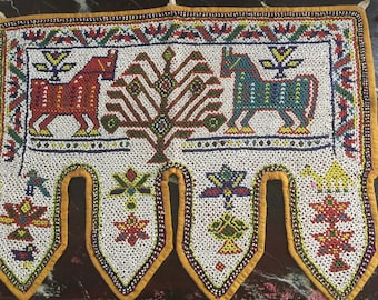An Indian beaded Toran,temple door tapestry,circa 1930s