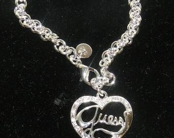Silver Heart Bracelet. V4