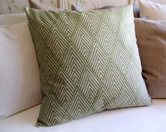 GREEN IKAT pillow cover 18x18 20x20 22x22 24x24 26x26