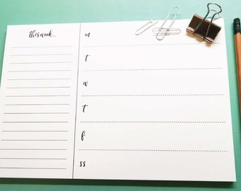 Chic Desk Weekly Planner Notepad