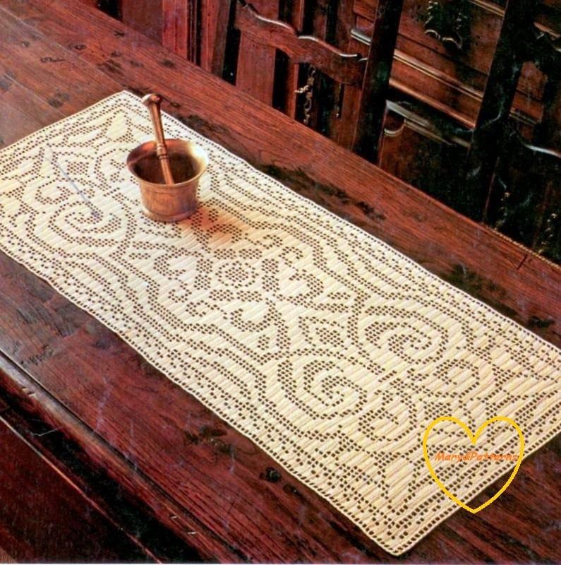 PDF Crochet pattern table runner -Crochet doily - Home decor ...