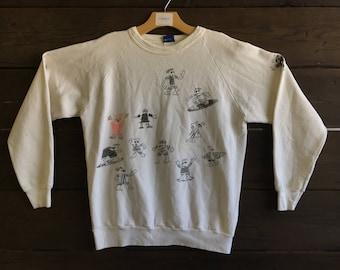 Vintage 80's OP Sketch Crewneck