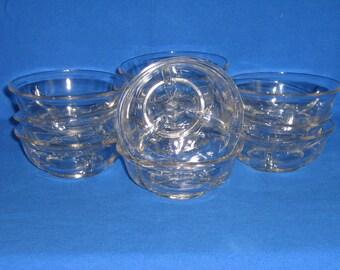 Fostoria Crystal Ice Dishes-Set of 11