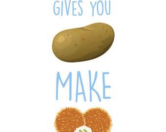 If Life Gives You Potatoes - Latkes -Hanukkah Poster - 8 x 10