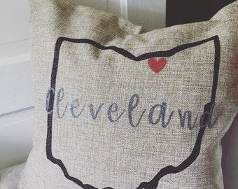 Cleveland throw pillow