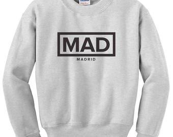 Minimalist MAD Madrid Spain International Airport Code Sweatshirt