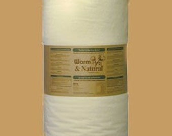 "1 yd x 90"" Warm and & Natural Cotton Batting with instructions"