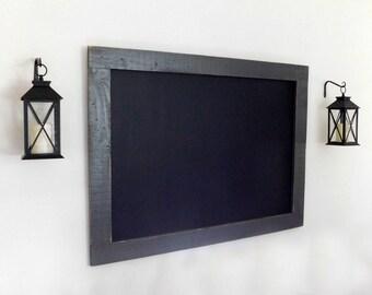 Framed Chalkboard - RESTAURANT DECOR - Menu Board - Distressed Wood - Industrial Decor - Shown in Graphite Gray - 36 x 48 - 30 Color Options