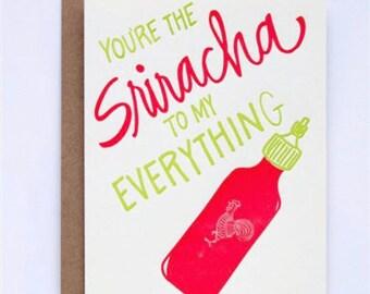 Every day Card - Greeting Card - Sriracha - Letterpress