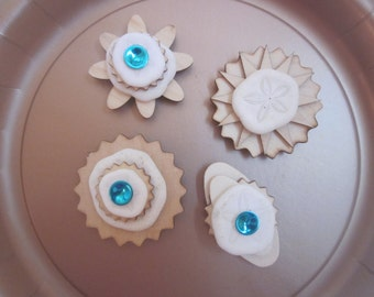 SAND DOLLAR MAGNETS  Set Of Four