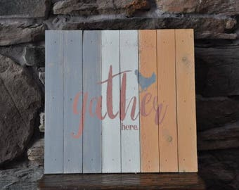 Chalky Wall Hanging Hen Farm Style Rustic Decor GATHER HERE