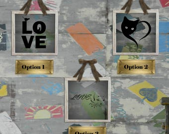 Love Cats Decals