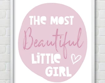 Beautiful Little Girl Nursery Print / Can Be Amended For Little Boys Too