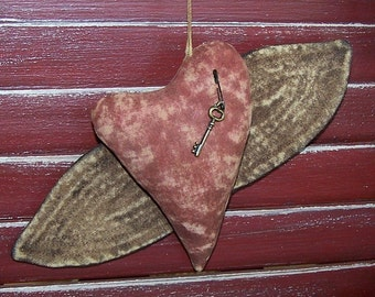 INSTANT Download PATTERN  Wings of Love HEART Ornie Ornament Quick and Easy