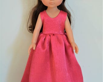 "Handmade Doll Clothes Dress Gown fits 13"" Corolle Les Cheries Dolls Handcraft C"