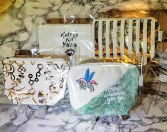 Make Up Bags | Cosmetics | Zipper Pouch | Organizer