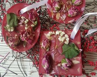 Fragrant sachet Smell of roses Wax tablet Wax sachet Room fragrance Wedding idea Guest gifts lavender Souvenir Flavor Flavored Sachet