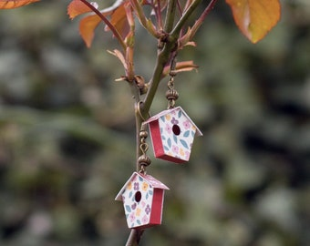Birdhouse - origami earring