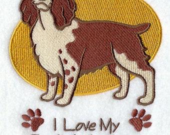 I Love My English Springer Spaniel Embroidered Flour Sack Hand/Dish Towel