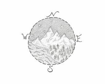 Stipple Nature/Adventure Compass