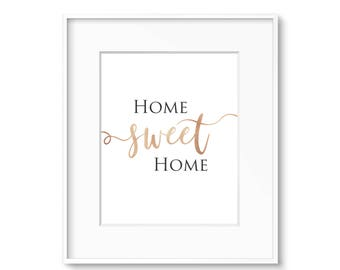 Home Sweet Home  - Gold- Wall Art Print - DIGITAL DOWNLOAD