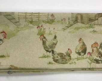 Voyage Henny Penny Linen  Made To Measure Professionally Made Roman Blind