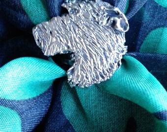 Irish Wolfhound Scarf Ring