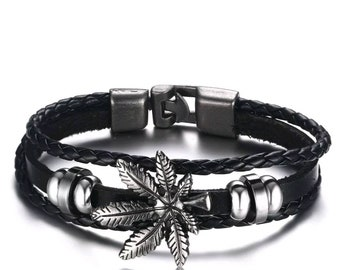 Brand New Bohemia Leaf Leather Bracelet.