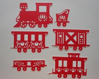 Die Cut Card Stock Train -cc