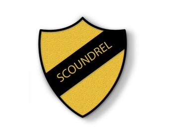 PRE ORDER Star Wars Gift, Scoundrel, Rebel Scum, Prefect, Hard Enamel Pin, School Shield Pins, Lapel Badge, Han Solo, Geek, Jedi