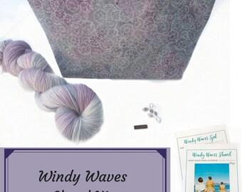 Windy Waves Shawl Kit