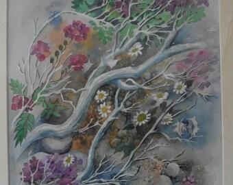 Original Painting - Desert Flowers