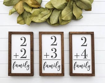 """Family Wood Sign 