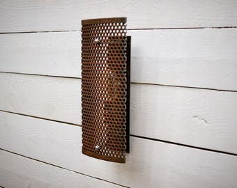 Antique Cast Iron Grate Sconce | Industrial Lighting | Wall Light