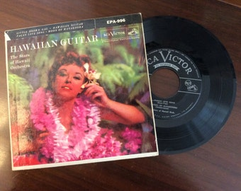 vintage Tunes ... HAWAIIAN GUITAR by The Stars of Hawaii Orchestra 45 RECORD in Sleeve ...