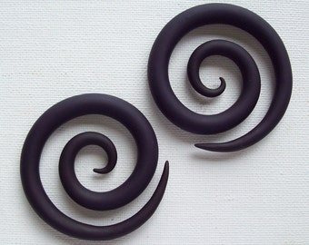 Super Spiral Plugs Gauges // Custom // 3 inches // Pick Your Color