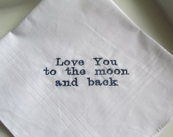 Embroidered Handkerchief, Personalized Handkerchief