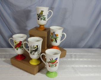 Retro Bird Mugs