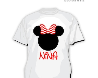 TS-112: DIY - Minnie Mouse Nina T-Shirt Design - Instant Downloadable File