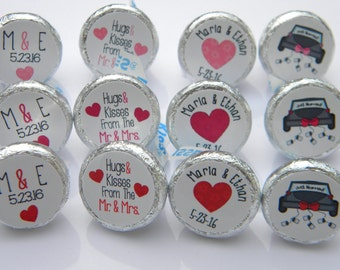 Wedding Favors - Personalized Wedding Hershey Kiss Stickers - Wedding Hershey Kisses Favors - Bridal Shower Favors Hershey Kiss Stickers