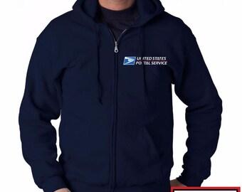 US Postal Service Sweatshirt - Post Office pullover - Adult Jackets - Jackets - Postal Service Pullover - 3/4 Zip Jackets 0gwva7ln