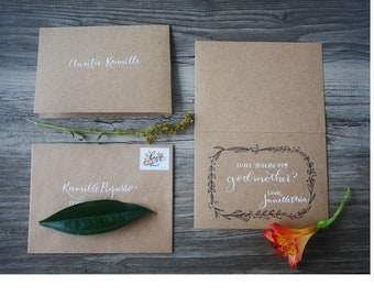 Will you be my Godmother/Godfather? -Greeting Card Set