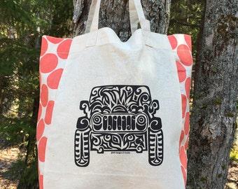 JEEP Tribal Tattoo Origins Cotton Tote Bag