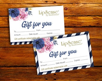Lipsense Gift Certificate - Surprise Gift Card - SeneGence Distributor - SeneGence Gift Certificate - LipSense Business Gift Certificate